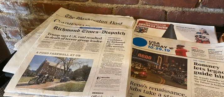 image of newspapers media