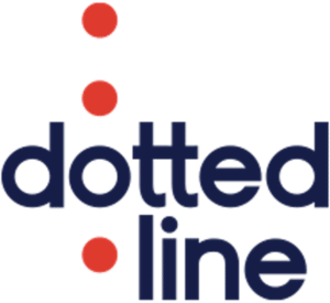 dotted line logo