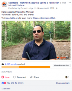 Facebook video sample with Michael Villafane
